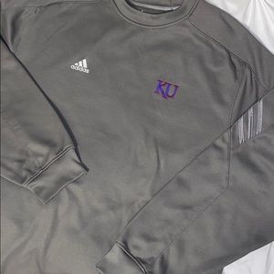 Adidas Kansas University Crew Sweatshirt Sz 2XL